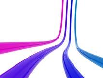 La couleur câble le fond Photos libres de droits