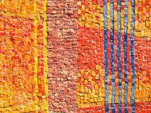 La couleur couvre de tuiles la texture de mosaïque Photos libres de droits