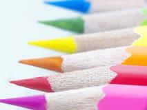 La couleur crayonne l'instruction-macro Photo libre de droits