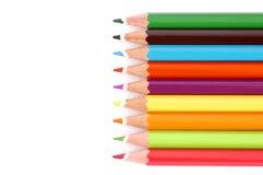 la couleur crayonne la ligne Images stock
