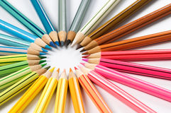 la couleur crayonne la roue Photos libres de droits