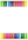 La couleur crayonne la trame Image libre de droits