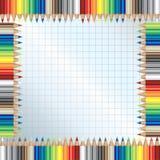 La couleur crayonne la trame Image stock