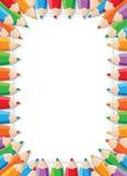 La couleur crayonne le cadre Photographie stock libre de droits