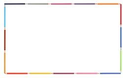 La couleur crayonne le cadre Photo stock