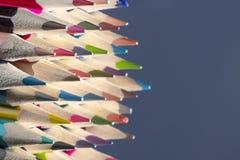 La couleur crayonne le plan rapproché Photos stock