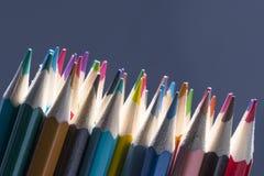 La couleur crayonne le plan rapproché Images libres de droits