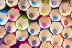 La couleur crayonne le plan rapproché Photo libre de droits