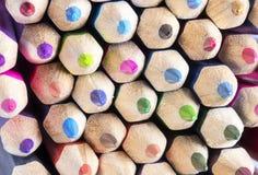 La couleur crayonne le plan rapproché Photographie stock