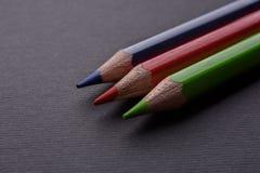 La couleur crayonne le RVB photographie stock