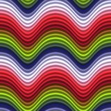 La couleur d'art de bruit ondule sans joint vert rouge Image stock