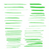 La couleur d'eau balaye 39 formes de goutte Photographie stock libre de droits