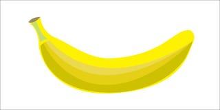 La couleur d'une icône de banane sur un fond blanc Images stock