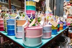 La couleur de la boîte de repas photo libre de droits