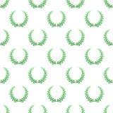 La couleur de fond des guirlandes vertes de laurier composées de deux branches avec les coeurs colorés et de tiges pour le deuxiè illustration stock