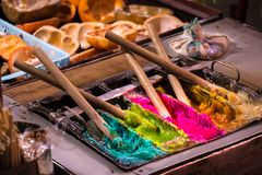 La couleur de la sucrerie Photo libre de droits