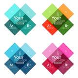 La couleur de vecteur barre des calibres d'infographics Photos libres de droits