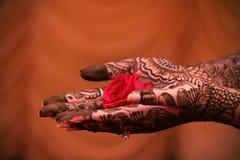 La couleur du mariage Mehndi Photo stock