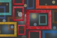 La couleur en bois encadre le fond Photos libres de droits