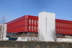 La couleur graphique magnifique sur ce bâtiment Photographie stock