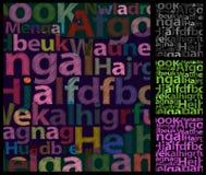 La couleur marque avec des lettres le fond. Photos libres de droits