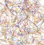 La couleur peint Art Streaks Abstract illustration stock