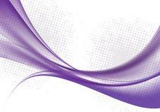 La couleur pourpre ondule sur l'illustration blanche de vecteur de fond illustration de vecteur