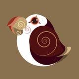 La couleur préhistorique d'abrégé sur mignon oiseau de macareux atlantique Photographie stock