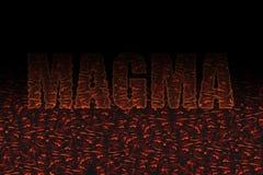 La couleur rouge de magma de noir décoratif de textin illustration libre de droits
