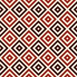 La couleur rouge a répété les places et le fond abstrait ornemental de losanges Papier peint de grille Configuration sans joint Photo stock