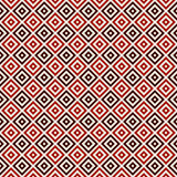 La couleur rouge a répété les places et le fond abstrait ornemental de losanges Papier peint de grille Configuration sans joint Photo libre de droits