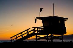 LA County Lifeguard Tower Stock Photo