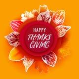 La coupe de papier d'automne part du thanksgiving illustration stock
