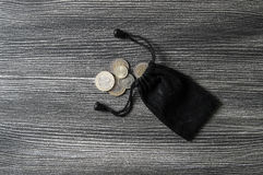 La coupe de pièce de monnaie, pièce de monnaie, Lire turque, extraient la Lire turque, Photo libre de droits