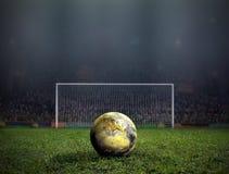 La coupe du monde donnent un coup de pied  image libre de droits