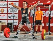 La coupe du monde 2014 powerlifting AWPC à Moscou Photo libre de droits