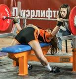 La coupe du monde 2014 powerlifting AWPC à Moscou Image stock