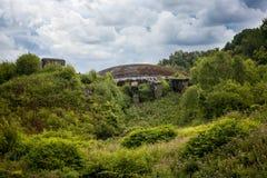La Coupole kupolen, ett komplex för bunker för det andra världskriget, raket V-2 lanserar installation i Paset-de-Calais france arkivfoto