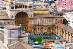 La cour de belvédère à Ville du Vatican photos libres de droits