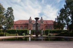 La cour de la vieille Bibliothèque nationale du Danemark Images stock