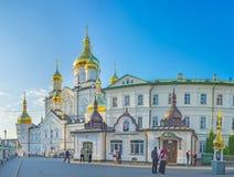 La cour de Pochayiv Lavra Photographie stock libre de droits