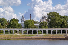 La cour de Yaroslav, Veliky Novgorod images libres de droits