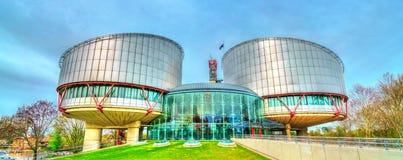 La Cour européenne des droits du homme à Strasbourg, France Photographie stock libre de droits