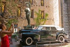 La cour principale de Dali Museum en Espagne Images libres de droits