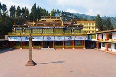 Cour de monastère de Rumtek vide Photos stock