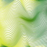 La courbe abstraite raye les courbes modernes jaunes de fond illustration stock