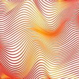 La courbe abstraite raye les courbes modernes oranges de fond illustration libre de droits