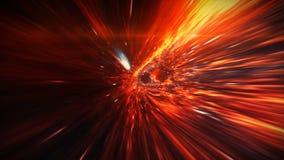 La courbure de l'espace-temps dans l'espace à la frontière de l'horizon d'événement image libre de droits