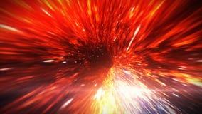 La courbure de l'espace-temps dans l'espace à la frontière de l'horizon d'événement Photos libres de droits