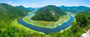 La courbure de rivière Image libre de droits